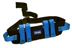 LiftAid Transfer and Walking Gait Belt with 6 Hand Grips and Quick-Release Buckle