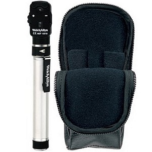 WELCH ALLYN 2.5V POCKETSCOPE OPHTHALMOSCOPE WITH AA HANDLE & SOFT CASE 12821